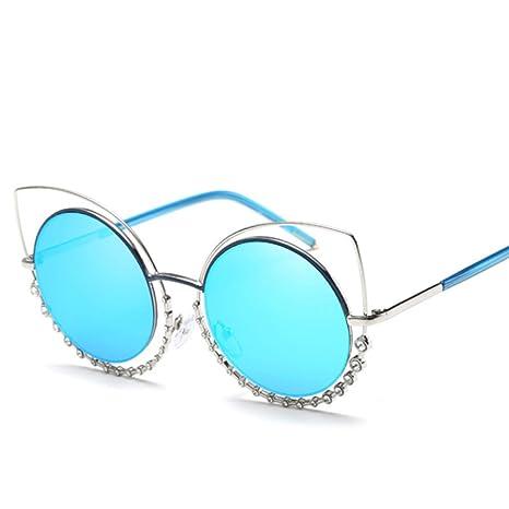 Gafas De Sol De Metal NIUHUIRU / Diamante / Anillo Del Ojo ...