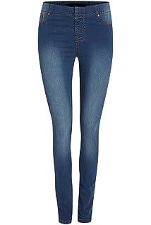 2674d5ee1f503 Ladies EX HIGH Street Denim Jeggings Skinny Slim Leg Thick Casual Denim  with Stretch (31