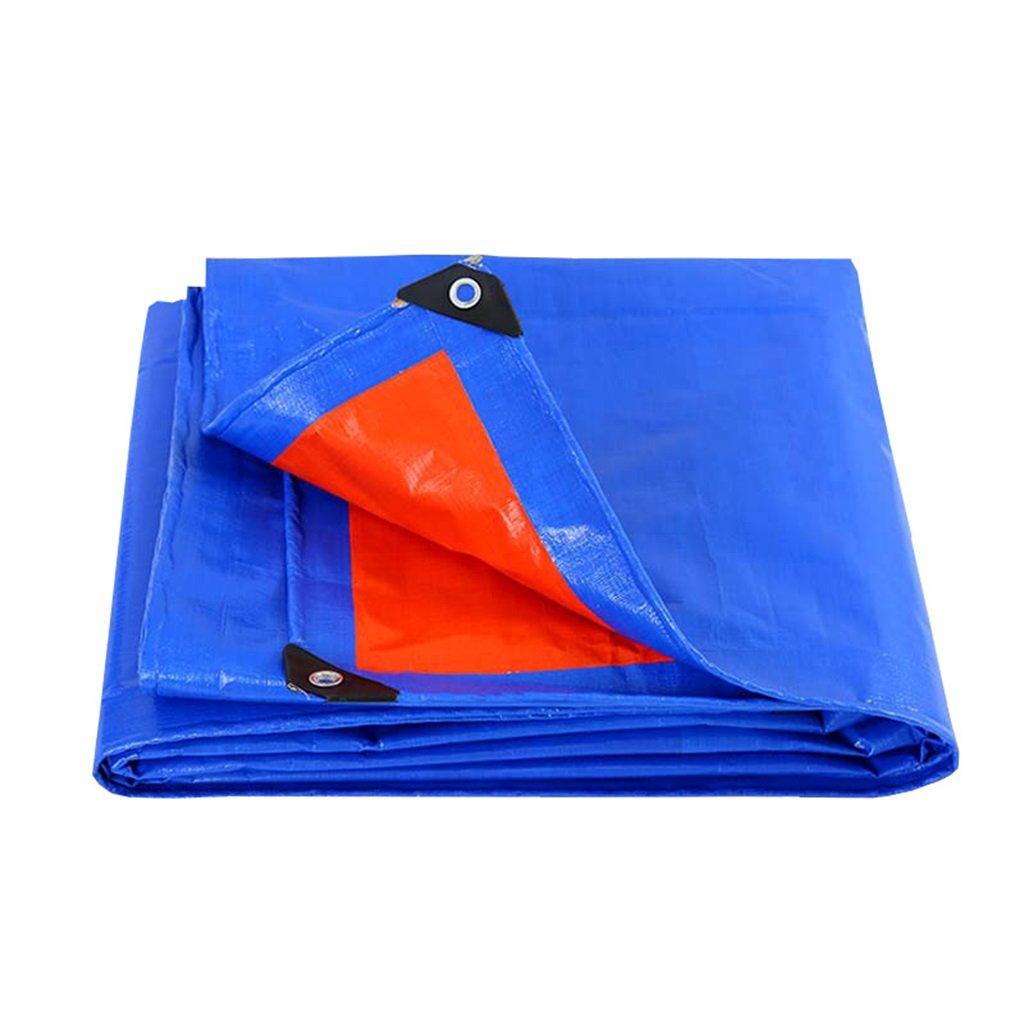 Zelt Zubehör Plane Blaues Planen-Blatt Tarps Multifunktions-Poncho für kampierendes Fischen-im Garten arbeitender Sonnenschutz-Kälte-Widerstand, Stärke 0.3MM, 160G / m², 20 Größe vorhanden Idee für Ca