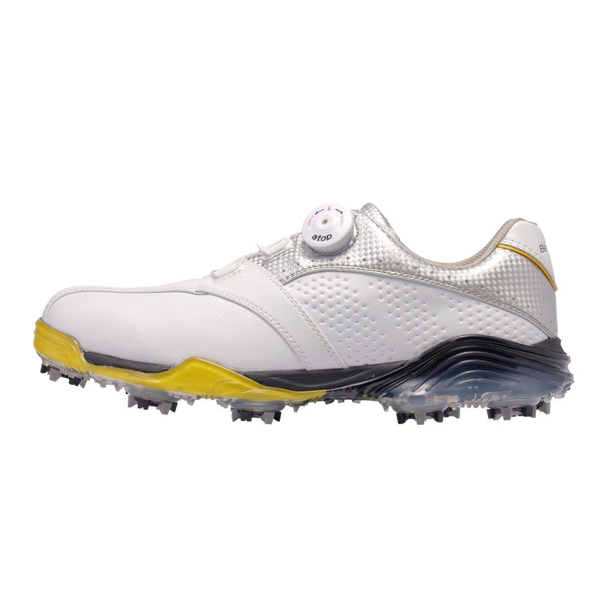 本間ゴルフ Be ZEAL メンズ スポーツモデル ダイヤルシューズ ホワイト/シルバー 27cm 3E SS-1602 原産国:中国 素材:甲(人工皮革) 、底(EVAスポンジ/TPU)   B077HCYJ4J