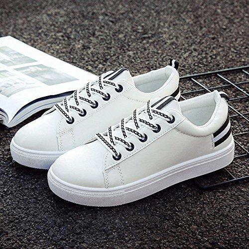 Automne Étudiants 39 Toile Sneakers À 36 Eu De Blanc Chaussures Lacets 5 Mode Pour Gongzhumm Décontractée Noir Femmes nxRHqCU