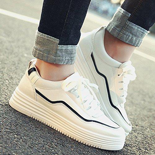 Cybling Vrouwen Casual Comfort Dikke Zolen Schoenen Mode Sport Sneakers Zwart