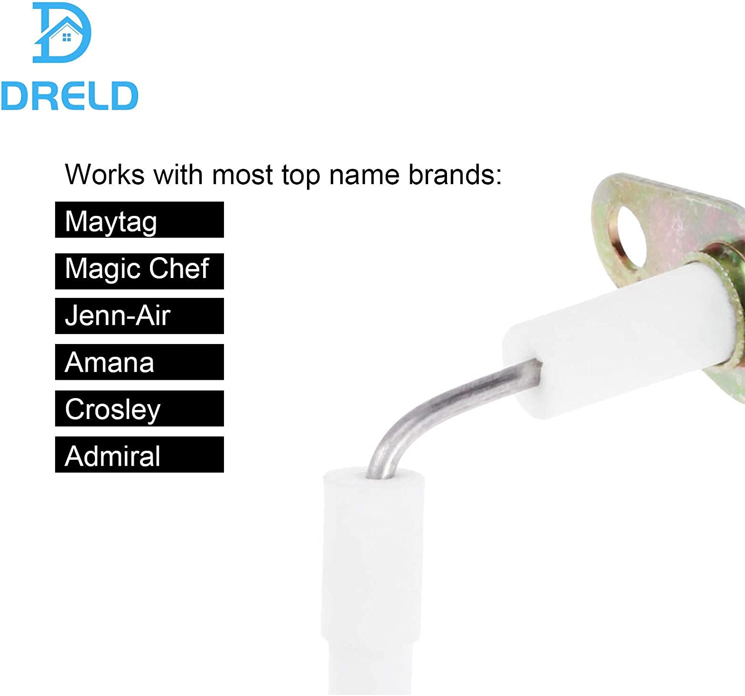 CLOTHES DRYER FLAT STYLE GAS IGNITER FOR WHIRLPOOL KENMORE MAYTAG FRIGIDAIRE JENN AIR CROSLEY ADMIRAL NORGE MAGIC CHEF 338900