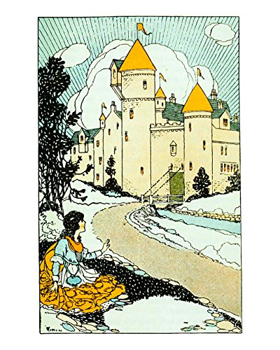 Beauty and the Beast, the Beasts Castle, Vintage Fine Art Print Reproduction From Journeys Through Bookland, Children's Nursery Room Art Print. Size: 8x10 Inches