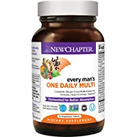New Chapter Men's Multivitamin, Every Man's One Daily, Fermented with Probiotics...