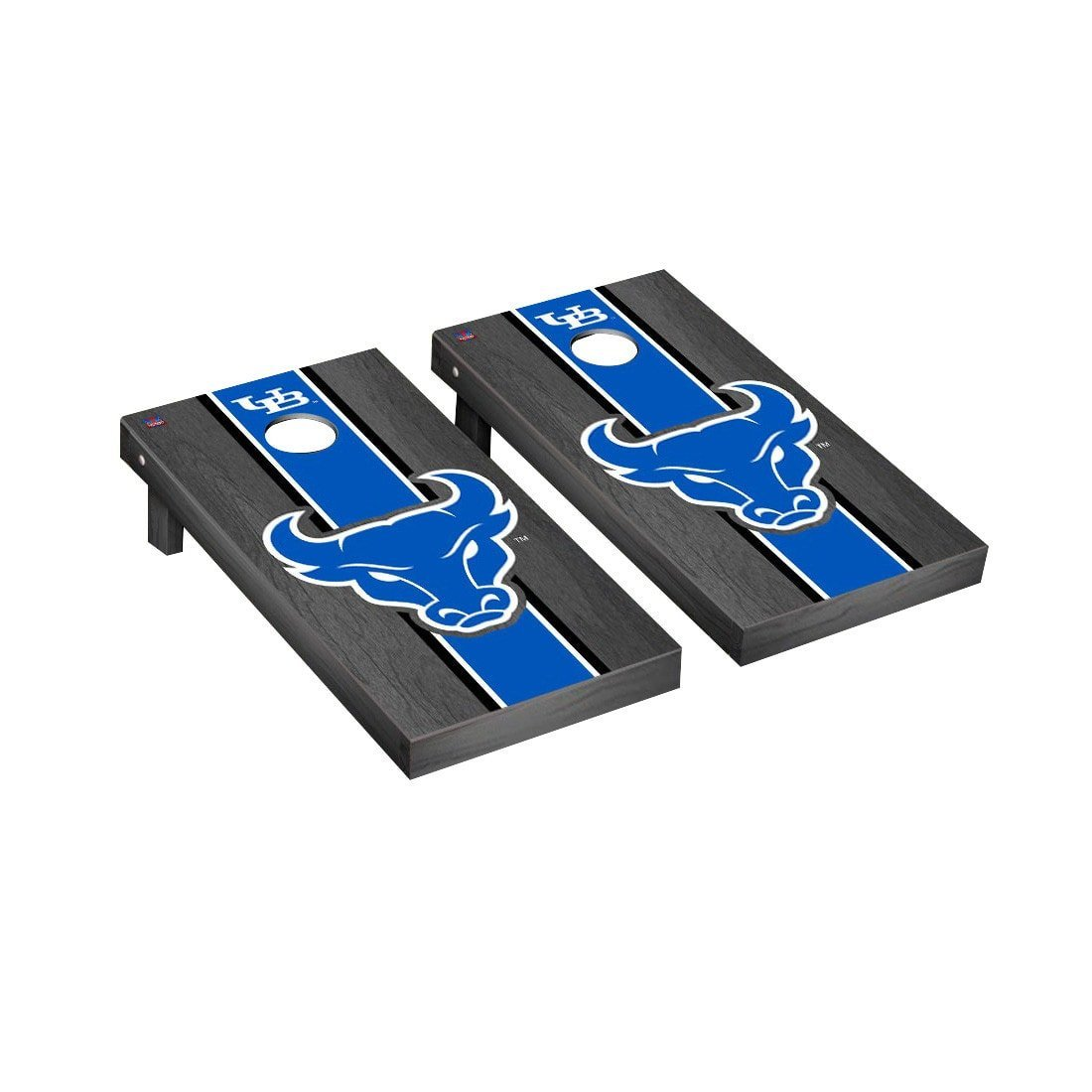 Victory Tailgate SUNY Buffalo Bulls Regulation Cornhole Game Set Onyx Stained Stripe Version