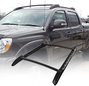 TOHUU Adjustable Aluminum 53 Roof Rack Cross Bar Luggage Cargo Rack Rails Carrier Set with Lock for Toyota Tacoma 2005-2018