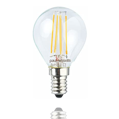 Mini bombillas LED de luz blanca cálida 2700K, 5 x 2 W/4 W G45 E14, ...