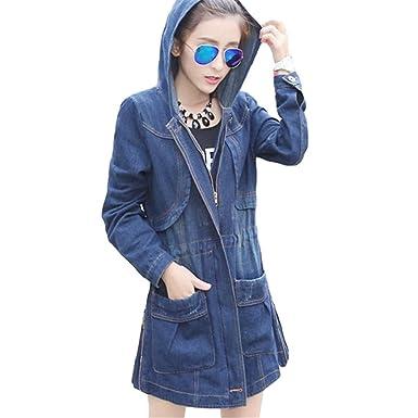 Autumn Denim Jacket For Women Plus Size Jeans Jacket Women Fashion New Loose Jacket Coats Denim Hoodies Chaquetas at Amazon Womens Coats Shop