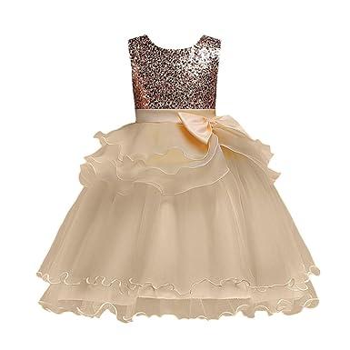 e526ffae6 Clode Baby Kids Girls Princess Bridesmaid Lace Dress