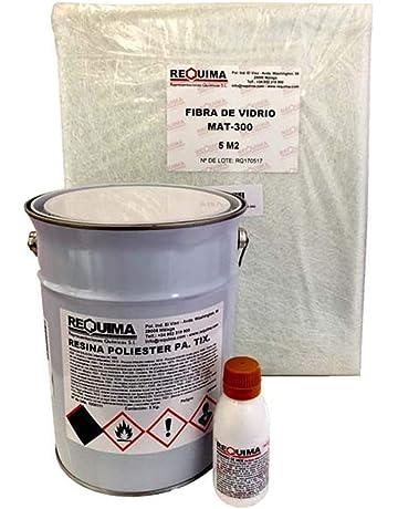 Riegoprofesional Resina de Poliester 5kg para Reparaciones. Fibra 5 m2 Resina de poliéster 5Kg catalizador