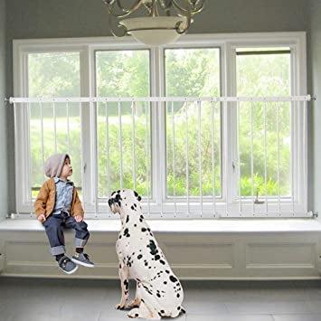 Metal Fit 85-335cm White Size : Length 160-230cm DNSJB Pressure Mounted Window Guard Children Child Safety Window Guards Indoor
