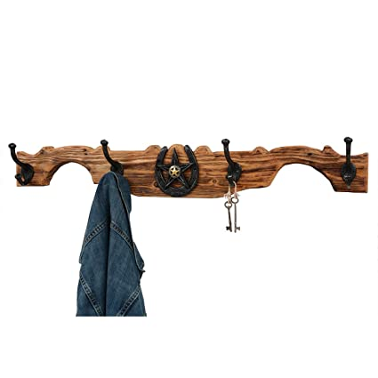Black Forest Decor Montana 4 Coat Rack - Unfinished