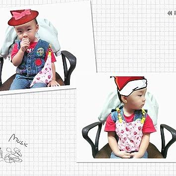 1 piezas Hermoso bebé patrón de dibujos animados niños pequeños longitud babero clip pañuelo de la servilleta ajustable para la servilleta de la toalla ...