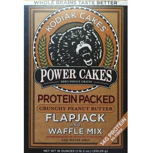 Kodiak Cakes Power Cakes, Crunchy Peanut Butter Flapjack and Waffle Mix, 18 Ounce