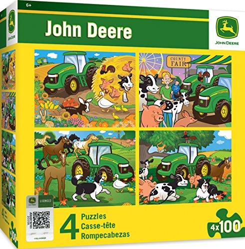 (MasterPieces  John Deere 4-Pack Multipack 100 Piece Puzzles)