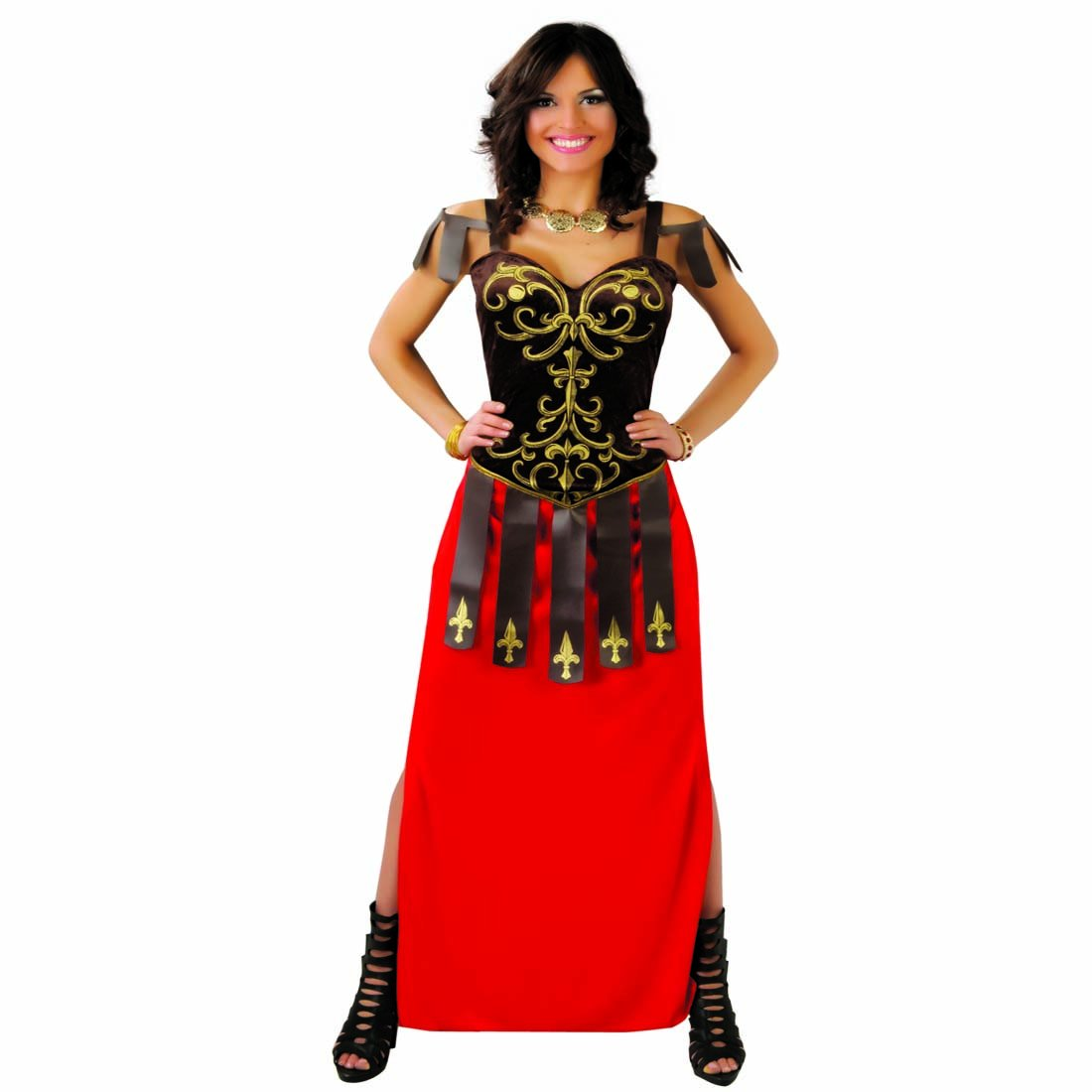 NET TOYS Disfraz de Romana Traje gladiadora L 42/44 Ropa ...