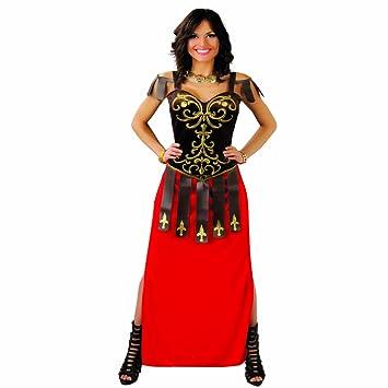 NET TOYS Disfraz de Romana Traje gladiadora L 42/44 Ropa Luchador Romano Femenino Vestimenta
