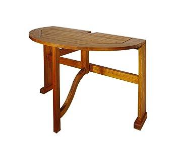 Nyatoh Hardwood Drop Leaf Half Oval Table