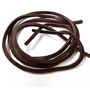 """ONE PAIR RAWHIDE LEATHER BROWN COLORED 34/"""" SHOE//BOOT LACES. NEW"""