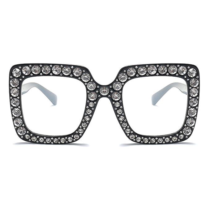 Amazon.com: Armear - Gafas de sol cuadradas con cristales de ...