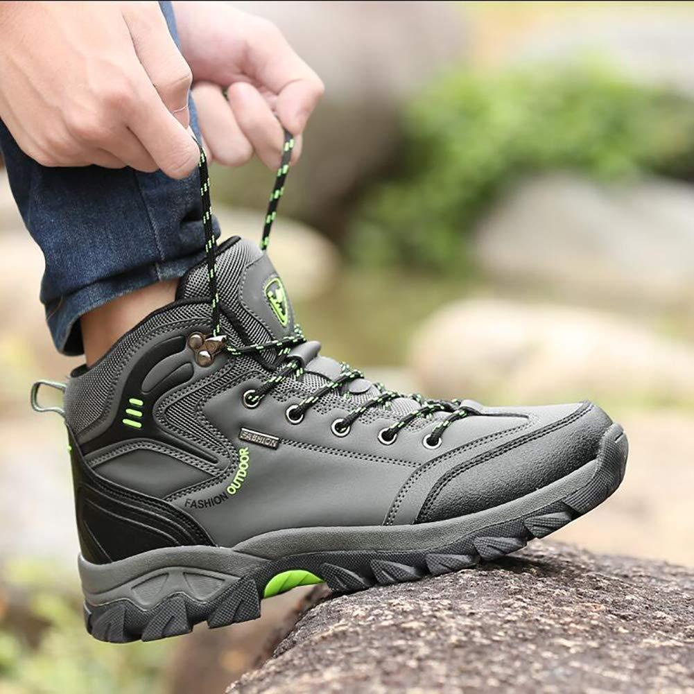 bb4e4949994 ... FHTD Zapatos para caminar para para para hombres Zapatillas  antideslizantes Botas de trekking Bajo de cuero ...