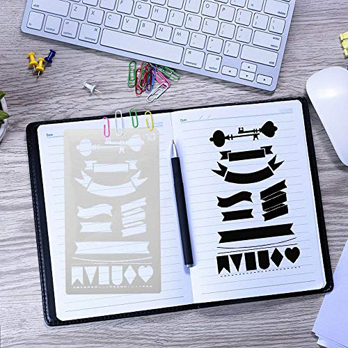 - Iulove Plastic Planner Stencils Journal Notebook Diary Scrapbook DIY Drawing Template