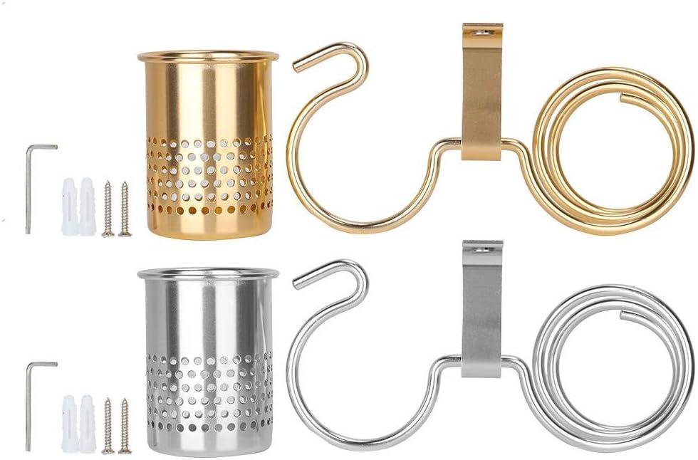 portaoggetti da Parete Pettine ECC portaoggetti Multiuso Zetiling Porta-asciugacapelli portaoggetti asciugacapelli # 1