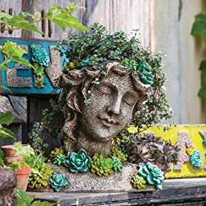 Succulent Garden Peaceful Beauty Planter Statue