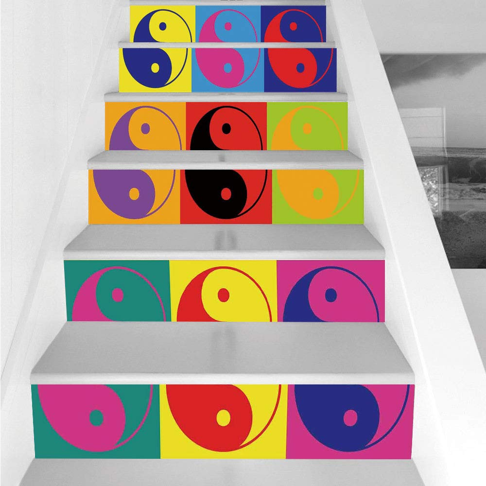 Amazon com: Stair Stickers Wall Stickers,6 PCS Self-adhesive