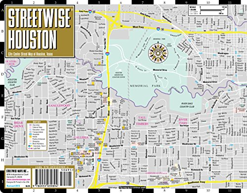 Streetwise Houston Map Laminated City Center Street Map Of Houston