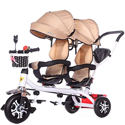 Peixia Department Store Carro de bebé doble de tres ruedas Acero al ...