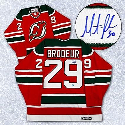 Amazon Com Martin Brodeur New Jersey Devils Autographed 1st Nhl