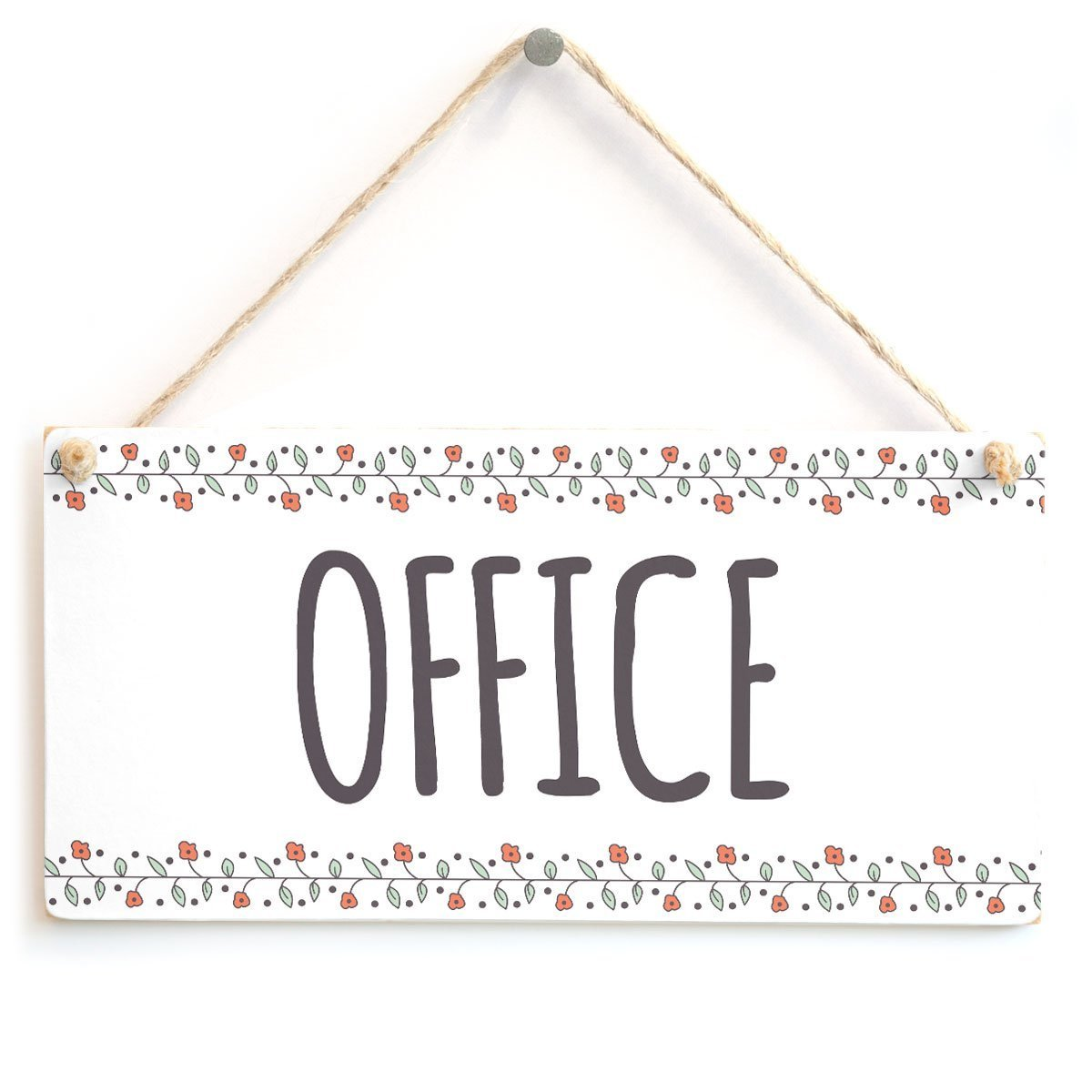 Amazon com wooden hanging sign office home office notice door sign home kitchen