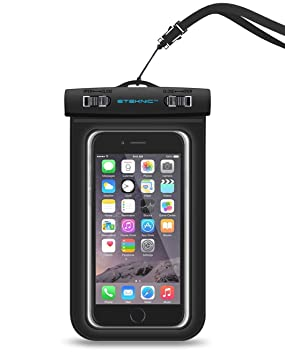 the latest d5181 b6fe8 Waterproof Phone Case, eTEKNIC Universal Dry Bag Pouch For Apple iPhone 8 /  7 / 6s / 6 / 5 / 5s / SE / 5c, Samsung Galaxy s5 / s6 / s6 Edge / s7, HTC,  ...