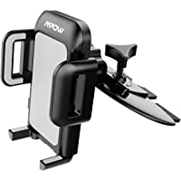 Mpow Car Phone Mount,CD Slot Car Phone Holder Universal Car Cradle Mount with Three-Side Grips and One-Touch Design for iPhone X/8/8Plus/7/7Plus/6s/6P/5S, Galaxy S5/S6/S7/S8, Google, Huawei etc
