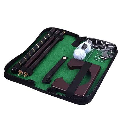 Amazon.com: Juego largo de golf de madera portátil para ...