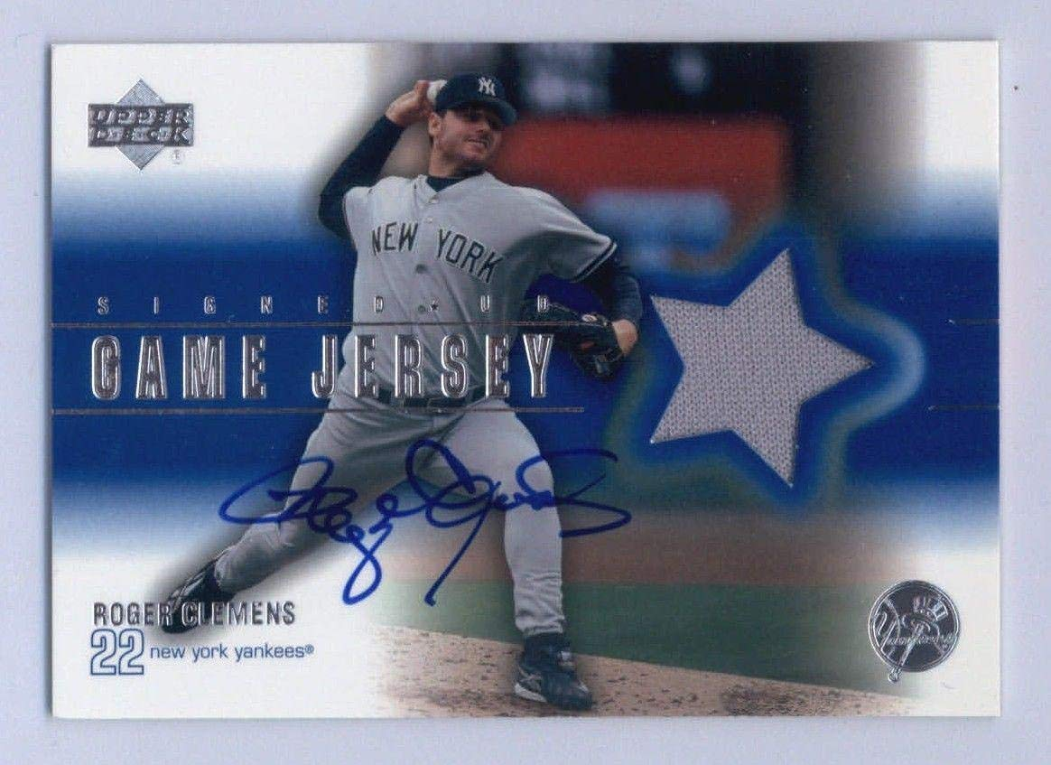 6afc71b6 Roger Clemens Yankees 2001 UD Signed Game-Used Jersey Auto #RC - Upper Deck  Certified - MLB Autographed Game Used Jerseys at Amazon's Sports  Collectibles ...