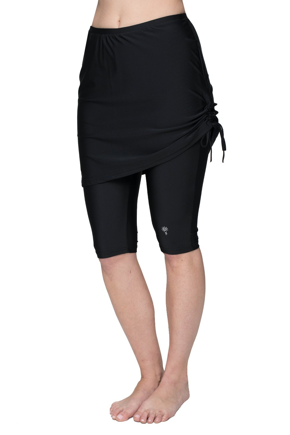 HydroChic Women's Plus Size Swim Skirt – Modest Swimsuit Great for Swimming, Sports and Water Exercise – Black, 0X