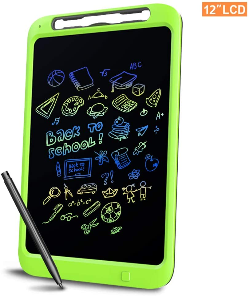Richgv LCD Writing Tablet, 12 Inch Digital Ewriter Electronic Graphics Tablet Portable Mini Board Handwriting Pad Drawing Tablet with Memory Lock Kids Adult Home School Office