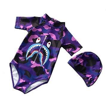 1dce5251af954 水着 子供 男の子 ロンパース キッズ水着 子供服 キャップ付き セット ベビー ボイーズ パンツ 長袖 赤ちゃん