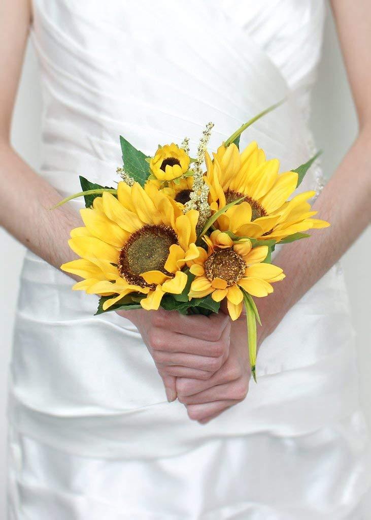 Bouquet Style-1 BirchForest Sunflower Bouquet Flower Artificial Silk Flowers Fake Sunflower,for Wedding,Party,DIY Any Flower Design