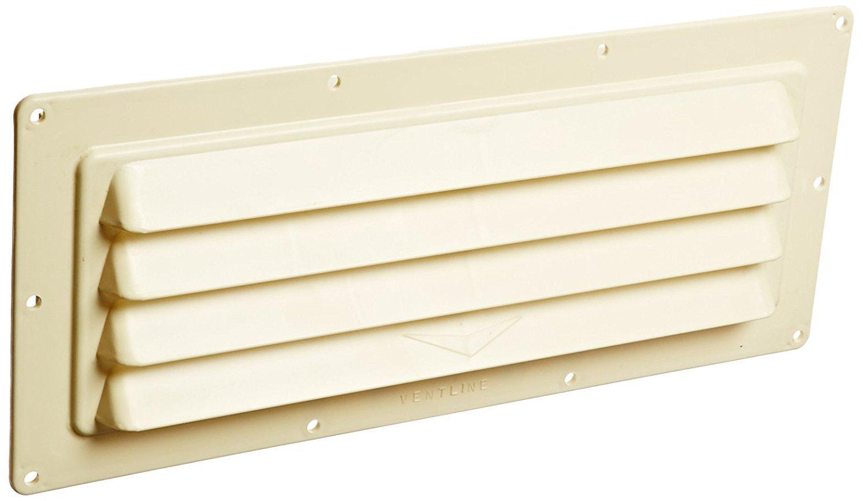Ventline (V2018-02) Colonial White Exterior Vent for Ducted Range Hoods (Quantity 6)