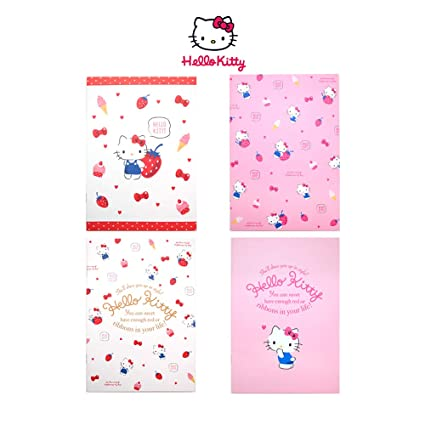 4de59e4a3 Amazon.com : Sanrio Hello Kitty Friends Stationery Ruled Saddle Stitching Notebook  Note Pad: Set of 4 : Office Products