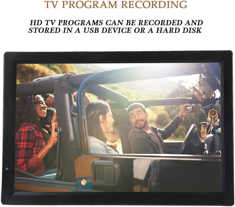 ASHATA 14 Inch Televisión Portátil,TFT-LED TV Digital para Coche,HDTV LCD 1080P Televisor Compatible con MKV,MOV,AVI,WMV,MP4,FLV,MPEG1-4,RMVB,Video,MP3,Apoyo AV/Tarjeta SD/MMC/USB/HDMI/VGA: Amazon.es: Electrónica