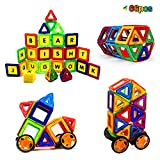 Magtimes Magnetic Construction Toys Building Blocks Educational Toys, Construction Building Tiles Educational Stacking Toys for Toddlers and Adults