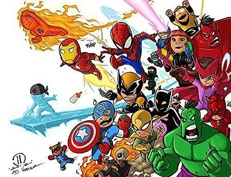 Avengers Comestible Decoración Para Tarta para Frosting 1/4 ...