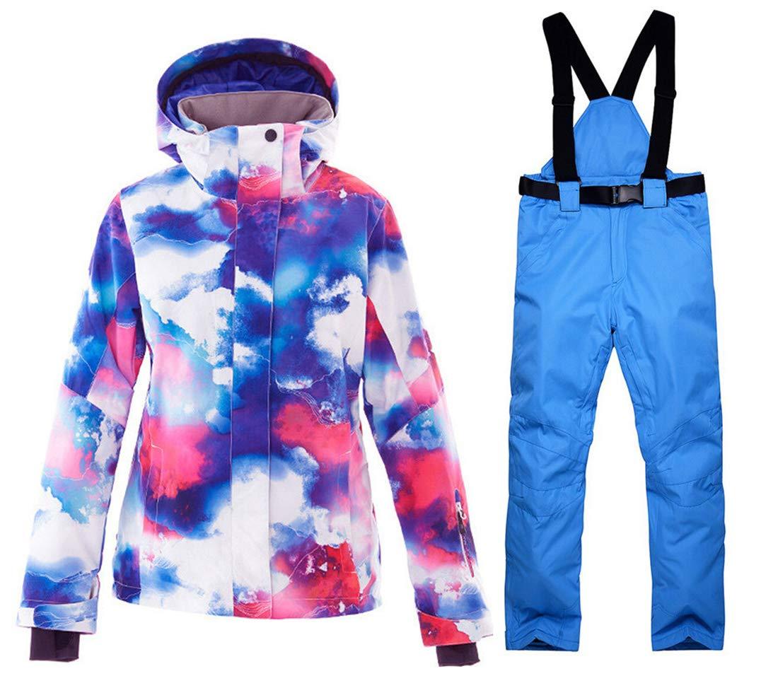 OLEK Waterproof Ski Jacket Windproof Winter Snowboarding Jackets Snow Skiing Pants