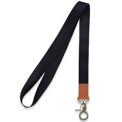 WEZEBEL Heavy Duty Breakaway Lanyard for Keys,Breakaway Buckle,Safety Breakaway Neck Strap for ID Card Holder in Office or Keys Black