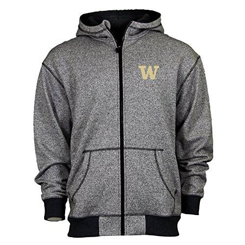 Ouray Sportswear NCAA Washington Huskies Adult Men Thermo fz Hood, X-Large, Thermo Black ()